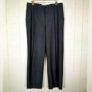 MaxMara High Rise Wool Angora Pinstripe Trousers